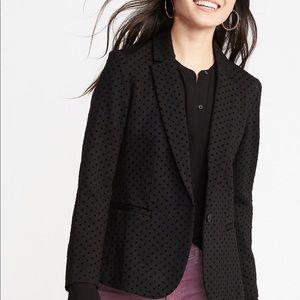 NWT Black Dot Knit Blazer